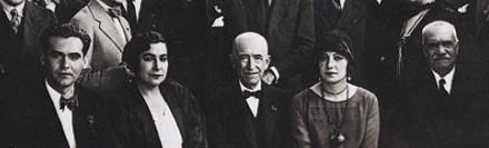 Manuel de Falla (center) with Lorca and his family, Granada, 1929