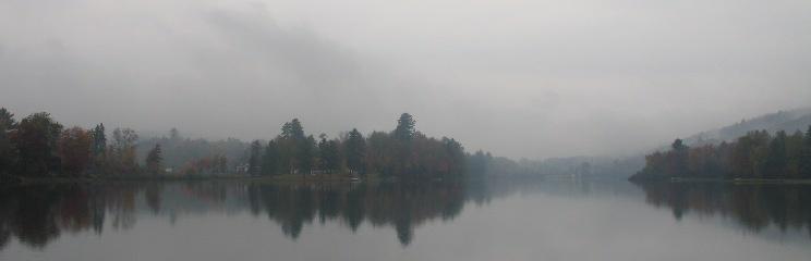 Morning mist at Lake Eden